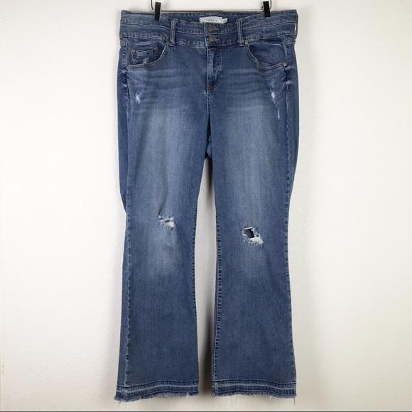 Torrid Distressed Raw Relaxed Hem Denim Jeans 22
